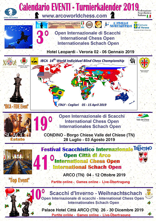 Calendario Tornei Scacchi.Calendario 2019 Arcoworldchess Com